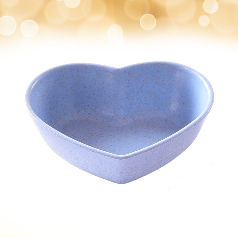 4pcs Durable Sauce Dishes Heart Shape Sauce Dipping Bowls Wheat Straw Soy Sauce Dishes Mini Dinnerware Plate Condiment Dish for Paste Jam Sushi Green