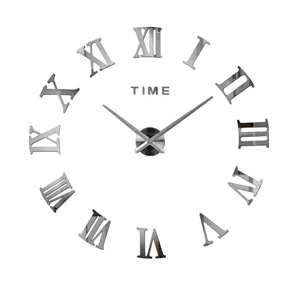 Wanduhr Deko Spiegel Wandtattoo 3D Design Wand Uhr