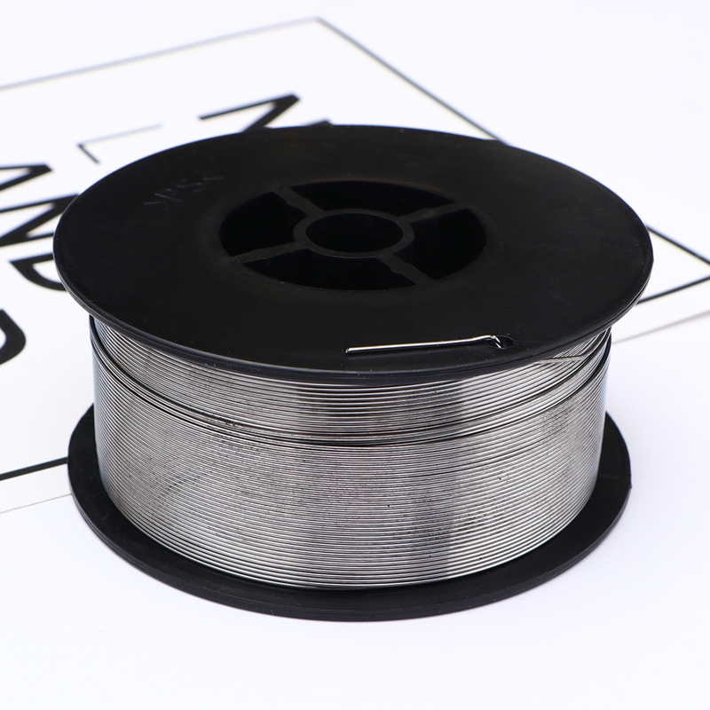 Rollo de alambre de soldadura de acero inoxidable sin Gas núcleo de fundente de 0,8mm peso 1kg
