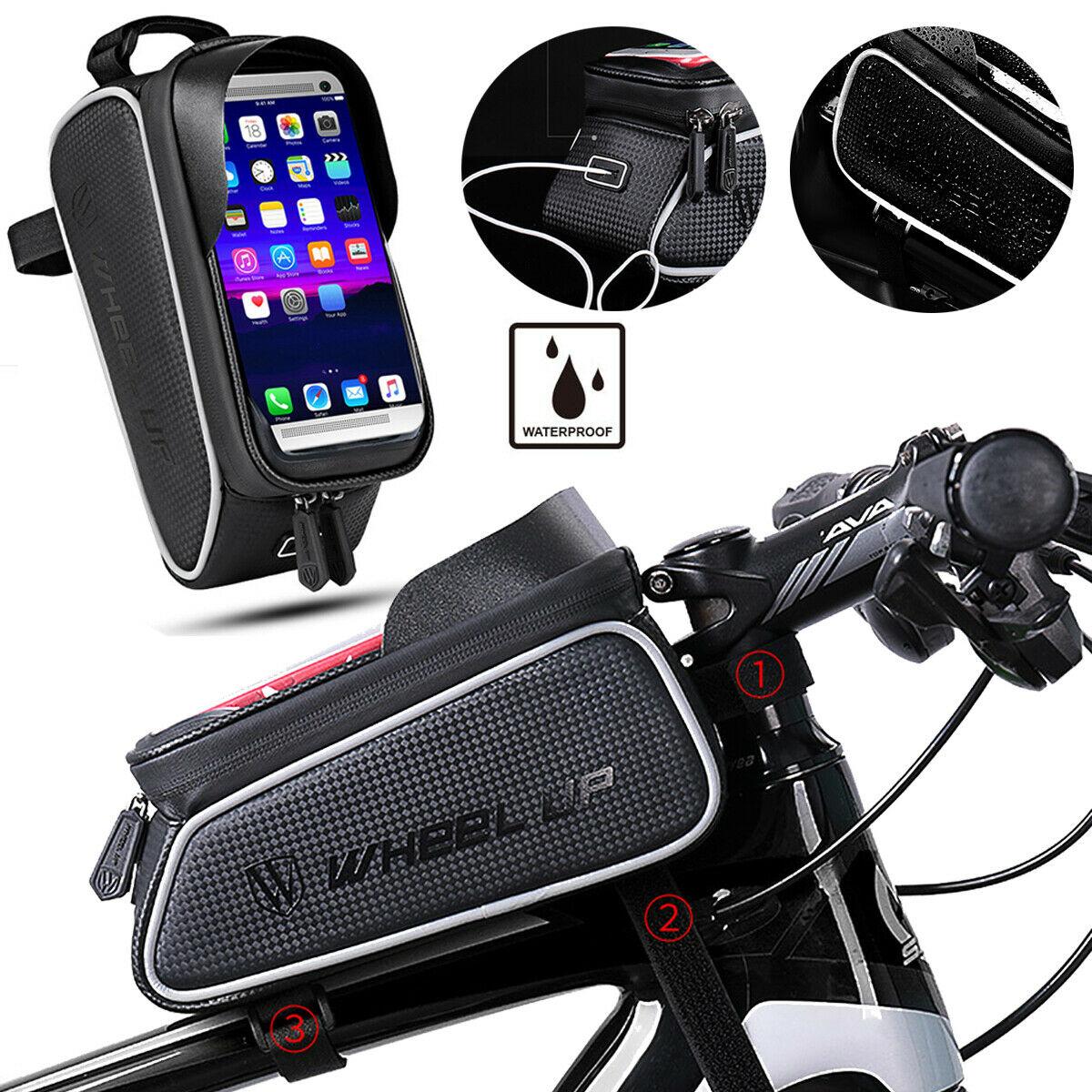 Oberrohrtasche Rahmentasche Fahrradtasche Handytasche Touchscreen Satteltasche