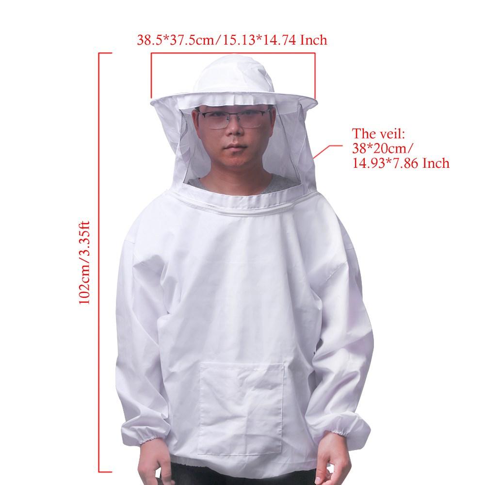TOP Beekeepers Schutzanzug Imkeranzug Hut Schleier Imkerei Handschuhe Set AT-09