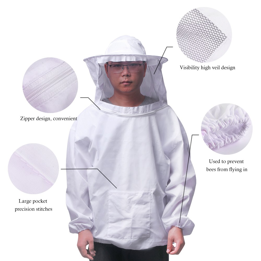 Imkerschutzanzug Imkeranzug Schutzanzug Sicherheitskleidung Imkerhandschuhe XL