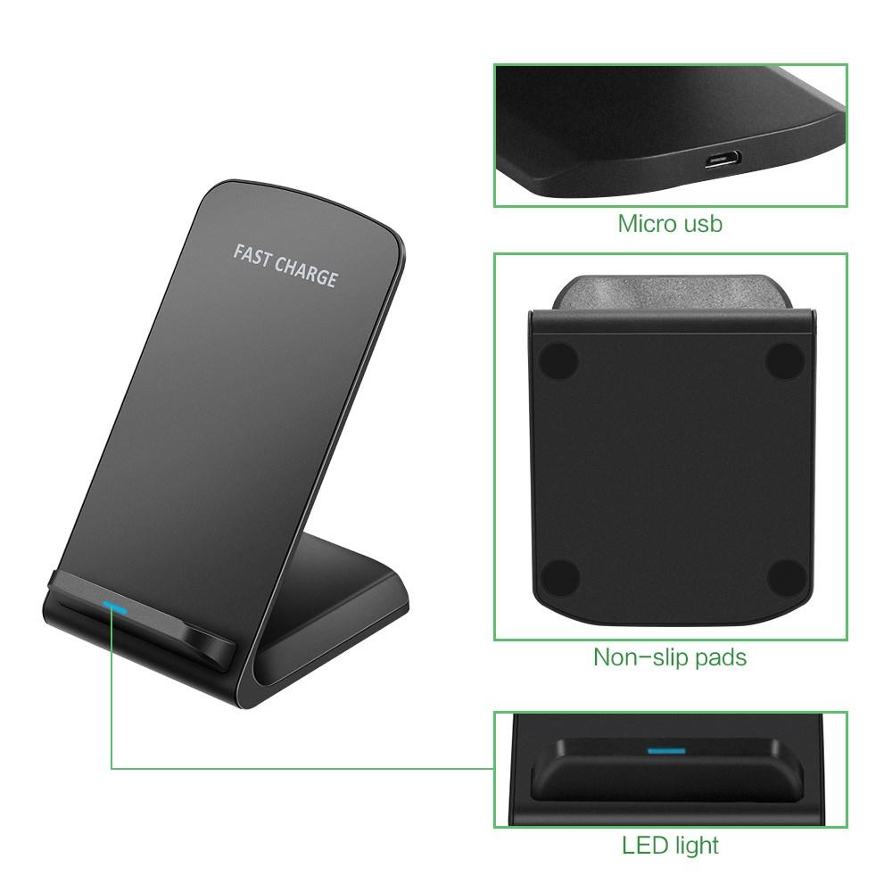qi induktive ladestation wireless charger f r samsung s8. Black Bedroom Furniture Sets. Home Design Ideas
