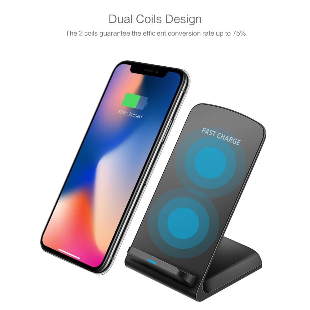 qi induktive ladestation wireless charger schnelles ladeger t f r iphone xs xr ebay. Black Bedroom Furniture Sets. Home Design Ideas