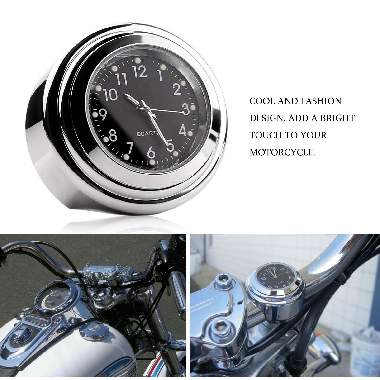 Universal Mini Motorrad Uhr Auto Uhr Wasserdicht Aufklebbarer Motorrad digital Uhr Dia 2,8/cm