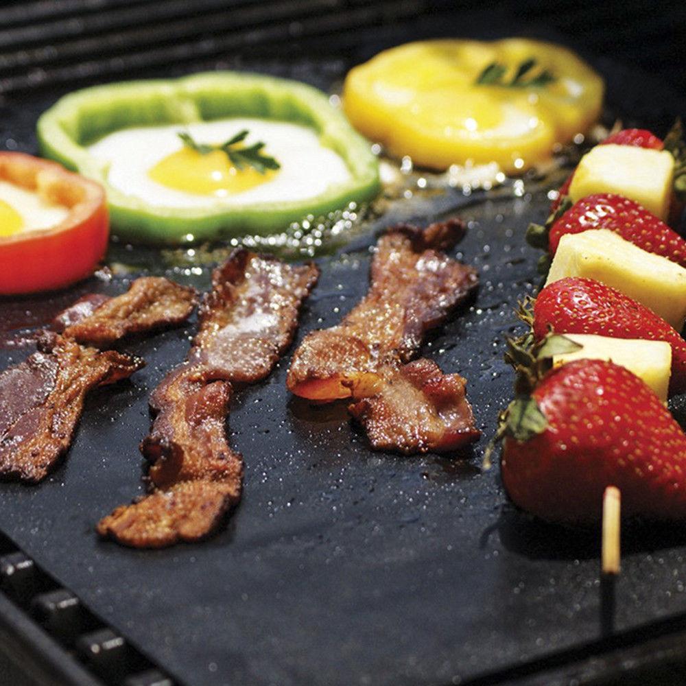 10 x BBQ Grillmatte Antihaft Teflon Grillmatten Grillunterlage Backmatte 40x33cm