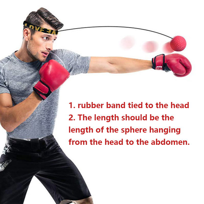 Boxing Punch Fight Ball Reflex Boxer Exercise React Speed Training Head Band