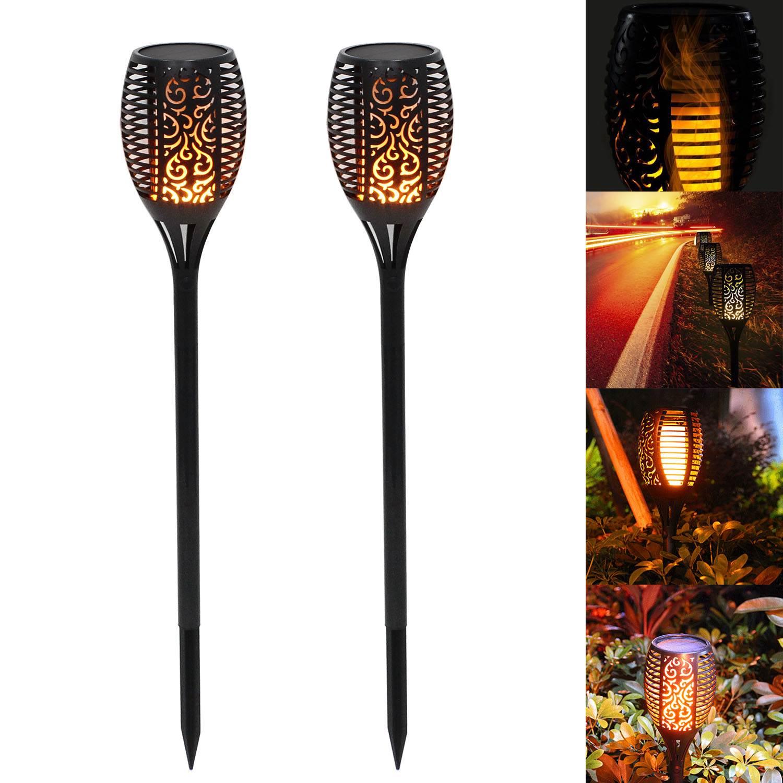 96 LED Solarfackel Amber Flackernd Tolle Flammenimitation Garten Beleuchtung