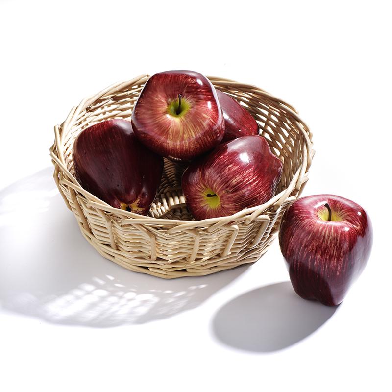10pcs//Lot Artificial Red Apple Simulation Fruit Craft Home Garden Party Decor UK