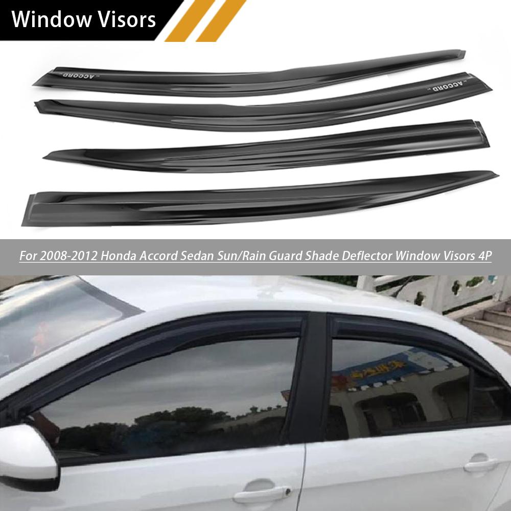 For 2008 09 10 11 2012 Honda Accord Windows Visors Rain Guards