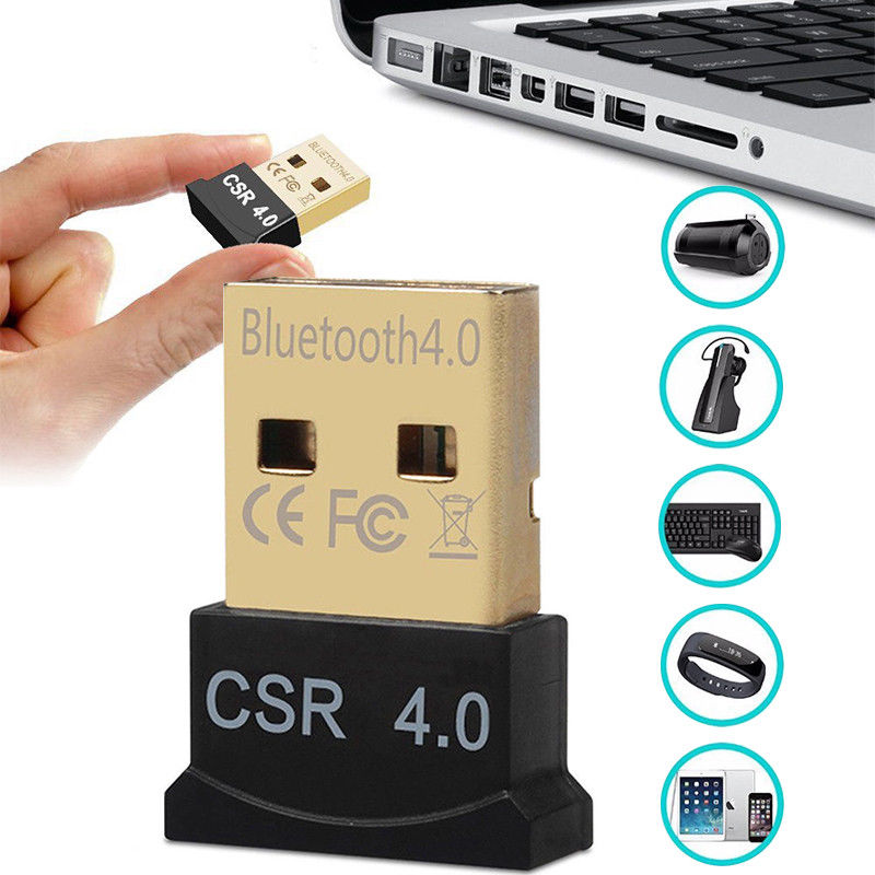 2pcs USB Bluetooth CSR4.0 Dongle Adapter Wireless Dual Mode Windows 10//8//7 XP
