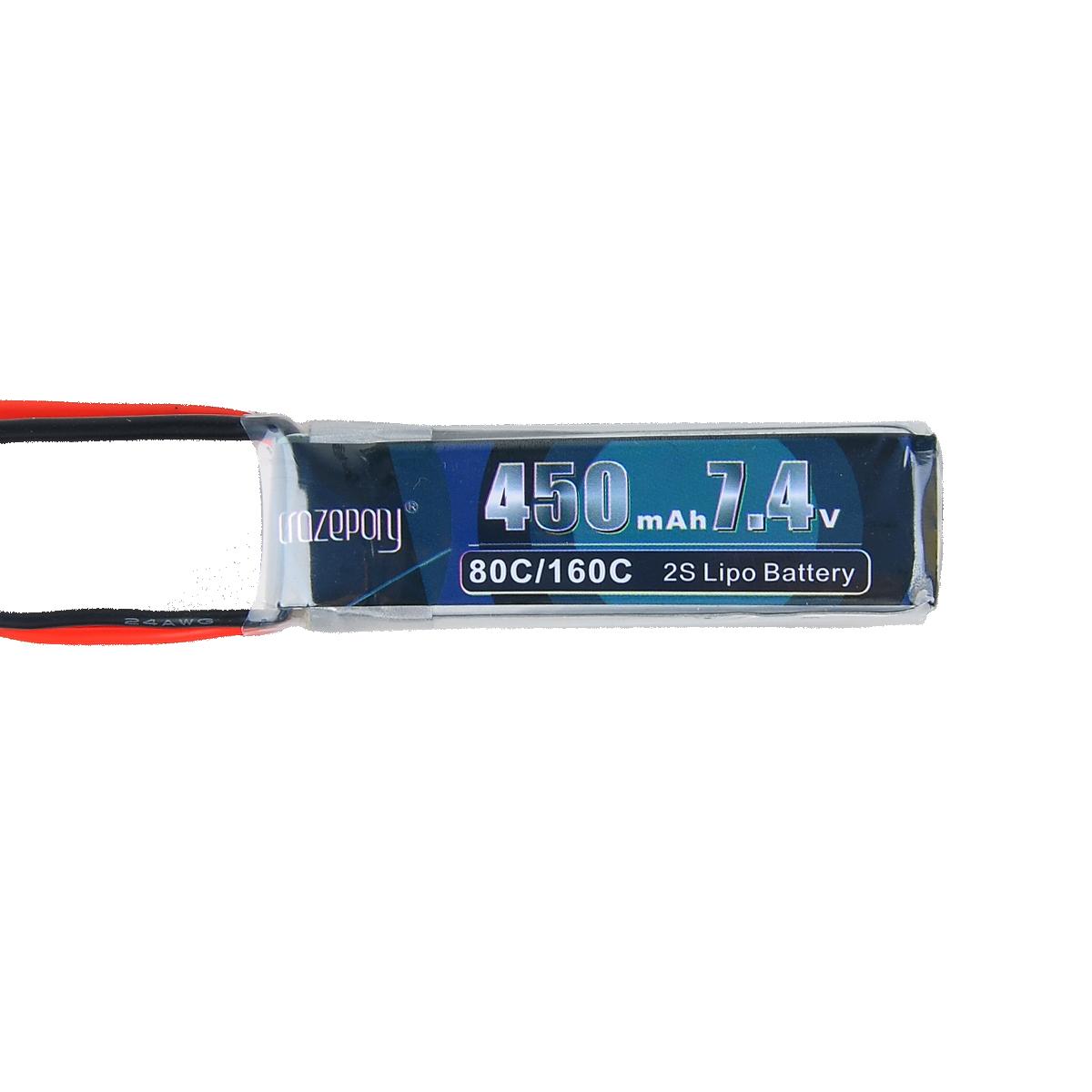 2 stücke 450 mAh 2S 7,4 V LiPo-akku 80C XT30 Stecker für Micro FPV Racing Drone