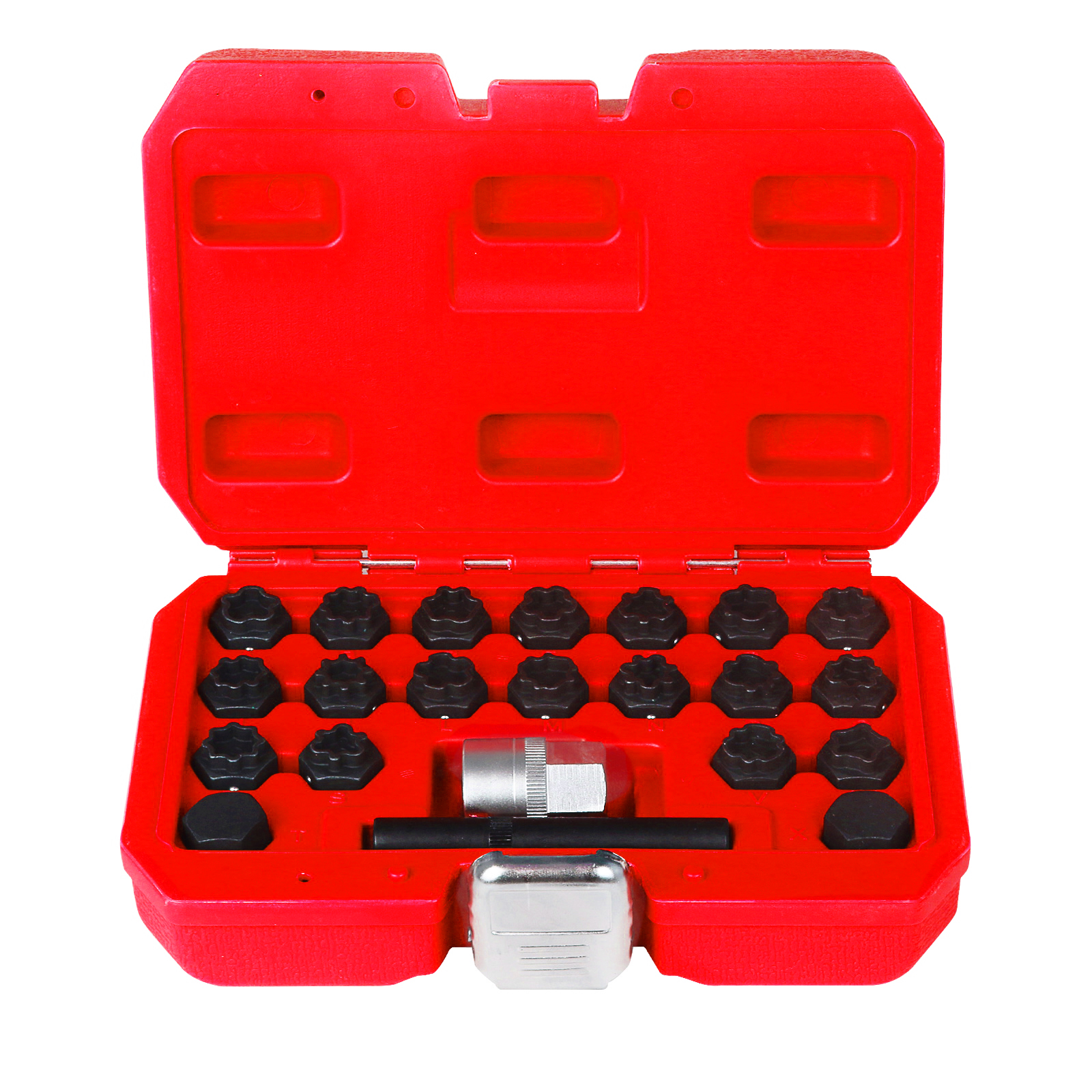 30 pcs Wheel Lock Lug Nuts Anti-Theft Lug Nuts Installation and Remover Socket Tool Removal Set for Mercedes Benz